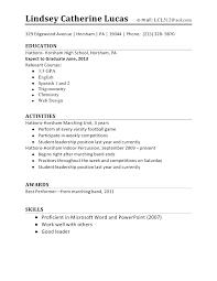 High School Resume Builder 2018 Gorgeous First Resume Template Resume Template High School Student First Job