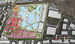 facebook menlo park office. An Aerial Map Indicating The Proposed Layout Of Facebook\u0027s \ Facebook Menlo Park Office