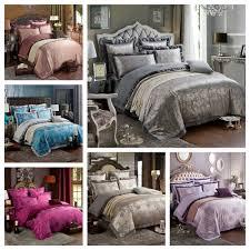 4pcs set 100 damask satin silk bedding sets luxury chinese wedding duvet cover set