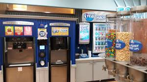 Self Serve Ice Vending Machines Custom Frozen Yogurt Soft Serve Ice Cream Toppings And Even Milkshakes