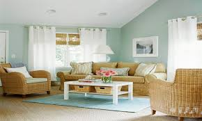Light Colored Living Rooms Pale Blue Wall Color Soft Light Colors With Rattan Chairs Living