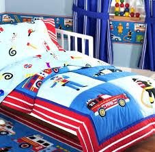 monster truck bed set rescue heroes fire police car toddler crib bedding comforter sheet blue red boy truck bed kids