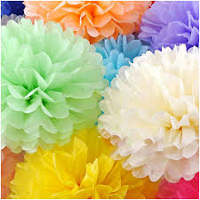 Buy Paper Flower Diy 8 Inch Paper Flower Ball Wedding Party Home Decoration Artware Rose Madder One Size