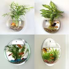 Wall Mounted Fish Tank Light Acrylic Fish Bowl Wall Hanging Aquarium Tank Aquatic Pet