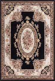 well woven miami medallion centre rug black