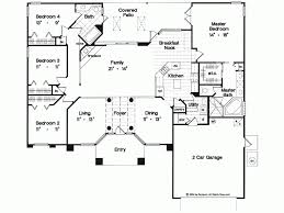 single level house plans. Best Single Story House Plans Fascinating With Four Bedroom Floor Level R