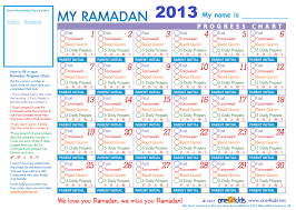 Free Ramadan Chart 2013 For The Kids Victorian Muslimah