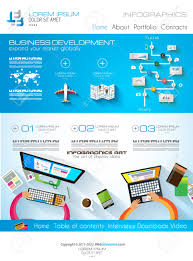 Infographic Website Template Modern Website Template With Flat Style Infographics Layout For