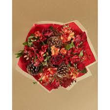 rose freesia flower gift bag