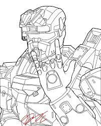 Halo Spartan Helmet Drawing Easy Best Home Wallpaper