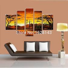 100 hand painted canvas art modern indian landscape oil painting for home wall decoration directly from artists d5p96 in painting calligraphy from home