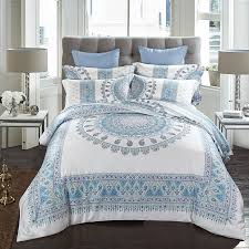 bohemian stripes luxury 4pcs bedding sets cool soft summer pure tencel include duvet cover flat sheet pillowcase king queen just bohemian style