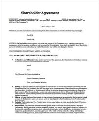 You can download this free shareholder agreement form and have it customized 12. Free 8 Sample Shareholder Agreement Forms In Pdf Ms Word
