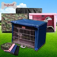 doglemi waterproof pet crate cover for wire crate dog kennel cage cover 4sizes pink l