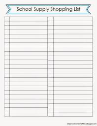 School Supplies List Template School Supplies List Template Beautiful Organizationtothemax