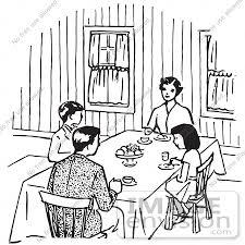 dinner table clipart black and white. dinner table clip art black and white clipart o