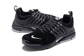 nike presto leather low top men s women s autumn winter running casual sports shoes black white