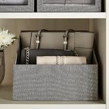 Grey Handbag Storage Bin ...