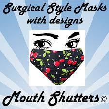 Decorative Surgical Masks Designer Surgical Face Masks made from cotton by thefacemaskstore 50