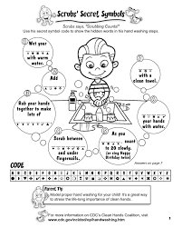 hand washing coloring page fan picture