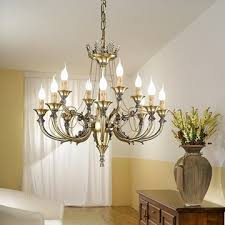 traditional solid brass chandelier and wall light