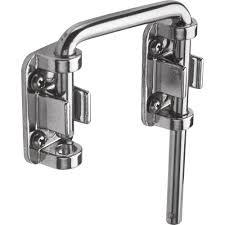 2 1 8 in steel nickel plated sliding door loop lock