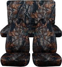 jeep wrangler gray real tree camo seat covers