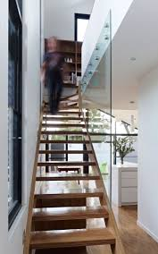 Glass balustrade bolted to the brickwork. Minimalist House DesignModern  House DesignModern StaircaseStaircase ...