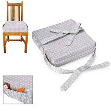 surenhap children dining chair cushion baby kid toddler infant dining chair booster seats sponge eating portable with straps amazon co uk kitchen home