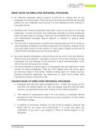 Referral Cover Letter Email Employee Cover Letter Employee Referral