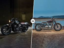 indian scout bobber vs triumph bonneville bobber spec comparison