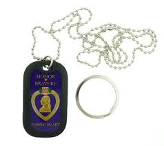 eagle crest united states military purple heart dog tag necklace key chain com