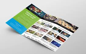 2 Folded Brochure Template Free Tri Fold Brochure Template For Events Festivals Psd