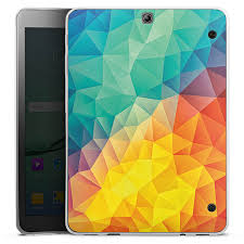 Abstract Cubism for <b>Tablet Silicone Case</b> (transparent) for Samsung ...