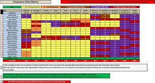 Employee Training Matrix Template Excel Employee Skills Matrix