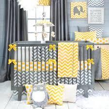 giraffe nursery bedding image of yellow and gray chevron baby