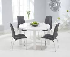 round dining table for 8.  Table Aqua 120cm Round High Gloss Furniture White Dining Table U0026 4  Chairs Inside For 8