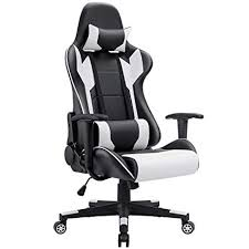 desk chair white.  Chair Homall Gaming Chair Racing Style HighBack PU Leather Office Computer Desk  Executive For White O