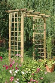 Small Picture Classic Arch This simple square garden arch features trellis