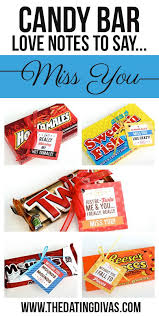 missing someone who is curly overseas has moved to a new state or is away at college let them know they re on your mind with cute candy bar treats