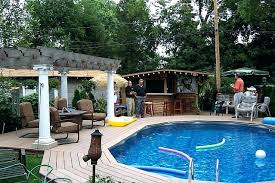 Backyard Landscaping Above Ground Pool Design Ideas Living Room