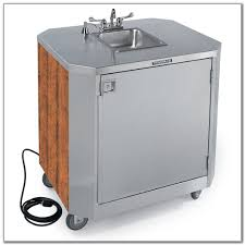 portable stainless steel sink cart