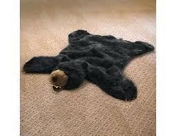 plush animal rug black bear plush faux animal skin rug black bear woodland plush animal rug plush animal rug