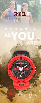 <b>Men's</b> White <b>LED watches</b> - <b>SMAEL</b> Red Shock 50M Waterproof ...