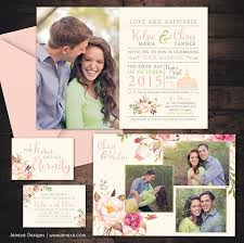 best 20 photo wedding invitations ideas on pinterest photo Wedding Invitation Photography Ideas beautiful photo wedding invitation set with blush pink and watercolor flowers perfect for a lds wedding invitation photo ideas