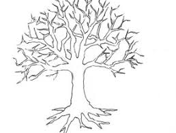 Small Picture Family Tree Coloring Page Descendants Coloring Page Family Tree