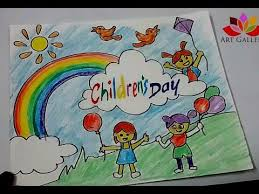 How To Make Children S Day Chart How To Draw Children Day Easy Drawing Youtube