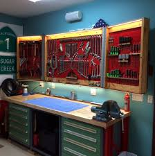 pegboard cabinet doors designed to fold