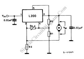 l dc motor speed control circuit diagram world l200 dc motor speed control