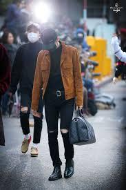 <b>BTS</b> (Suga) style | Аэропортовый стиль, Корейская мода, Черная ...